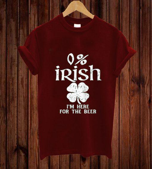 0% Irish Vintage St. Patrick's Day T-shirt