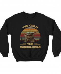 Baby Yoda The Child The Mandalorian Vintage Sweatshirt