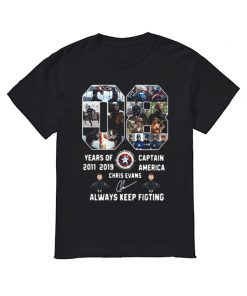 08 years of Captain America 2011 2019 Chris Evans shirt