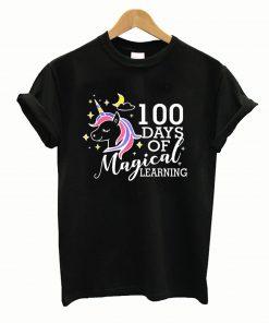 100 Days Of Magical Learning Elementary Teacher T-Shirt